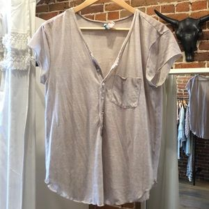 Free People button tee!